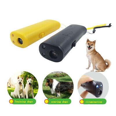 3in1 Anti Bark Device Ultrasonic Dog Barking Control Stop Repeller Trainer LED
