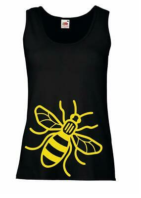Ladies Black Manchester Worker Bee Vest Community Save Environment