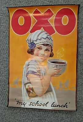 "older REPRO OXO POSTER 18"" x 27"" MY SCHOOL LUNCH"