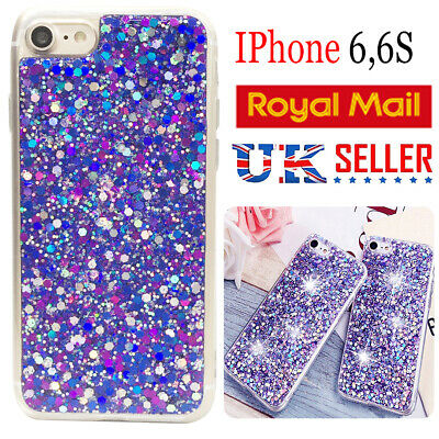 For iPhone 6/S Luxury Bling Shockproof Glitter Soft Silicone Sparkle case Cover