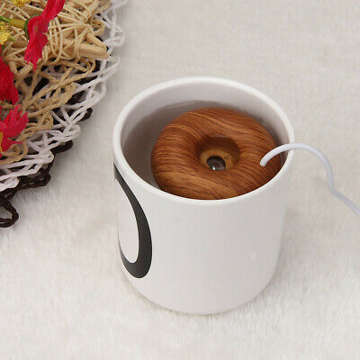 Hot Home Offices Mini USB Donut Humidifier Floats On The Water Air Fresher MO