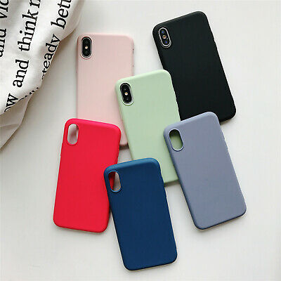 Ultra-Thin Soft Silicone Full Back Case for iPhone X 8 7 6 6S Plus Silky Handfel