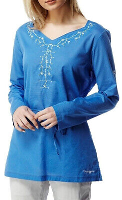 Craghoppers Rayna Long Sleeve Womens Top - Blue