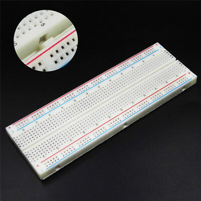 MB-102 Solderless Breadboard Protoboard 830 Tie Points 2 Buses Test Circuit CO