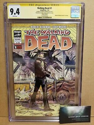 The Walking Dead #1 Cgc 9.4 Ss Italian Edition Variant *Signed* Kirkman 2014
