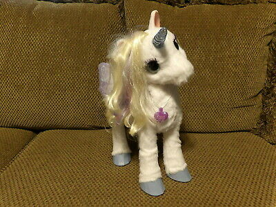 FurReal Friends My Magical Unicorn StarLily Interactive Lights Up Moves Sounds *