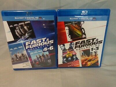 Fast & Furious: 6 Movie Collection (Bluray Disc, 2014) *see Discription* ~*