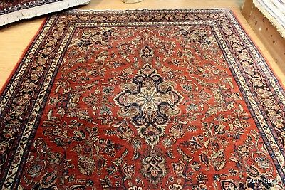 ON SALE Late 19th Century Antique Persian TabriS authentic rust & Blue color