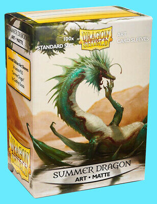 100 DRAGON SHIELD SUMMER MATTE STANDARD SIZE Card Sleeve Deck Protector AT-12021