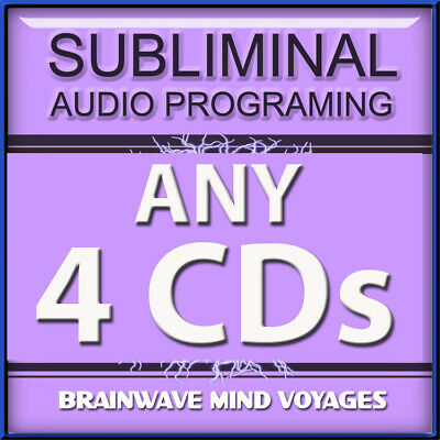 ANY 4 CDs Subliminal Audio MIND CONTROL Create Positive CHANGE in your Life NOW!