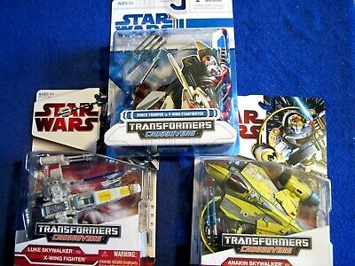 Star Wars Transformers Crossovers Skywalker/trooper to X-Wing/Starfighter/V-Wing