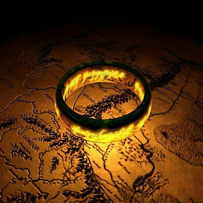Lord of the Rings The One Ring Lort Stainless Steel Bilbo's Hobbit Band Titanium