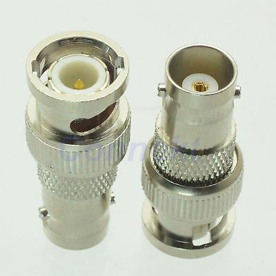 1pce BNC male plug to BNC female jack in series RF adapter connector