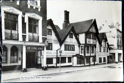 1968 NOTTINGHAM ENGLAND The Flying Horse Hotel VINTAGE Real Photo POSTCARD