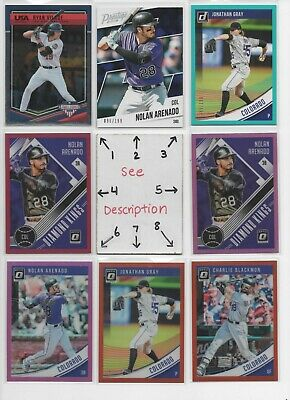Colorado Rockies ** SERIAL #'d Rookies Autos Jerseys *ALL CARDS ARE GOOD CARDS*