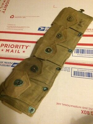 WWII GARAND riflemans Belt RIGHT SIDE WW2 USGI