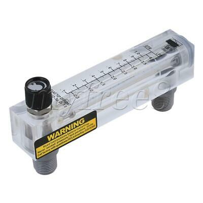 Transparent LZM-15T 0-65 °C 0.1-1GPM/0.5-4LPM Adjustable Panel Type Flow Meter