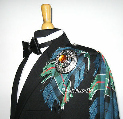20905824a Kilt Fly Plaid Colquhoun Ancient Tartan Fringed Made In Scotland  Highlandwear