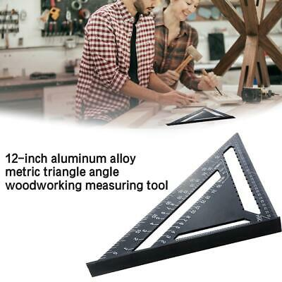 12'' Aluminum Speed Square - Triangle Ruler Protractor Miter Framing Measuring