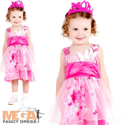 Princess Butterfly Girls Fancy Dress Fairy Tale Kids Toddlers Book Day Costume