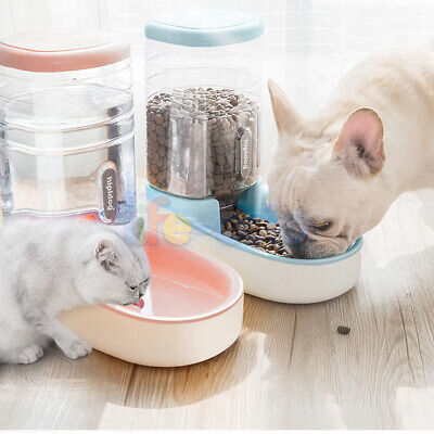 Large 3.8L Auto Pet Feeder Dog & Cat Water Drinker Food Bowl Holiday Dispenser