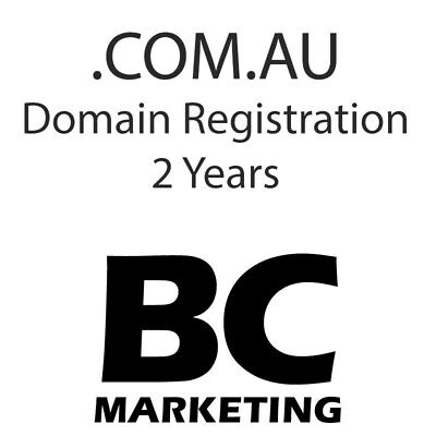2 Years .com.au Domain Registration - Make sure its available before ordering!