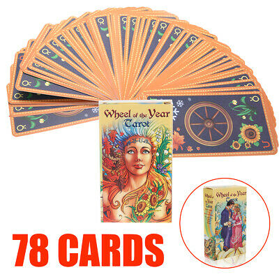 Wheel of the Year Tarot Board Game Future Telling Game 78 Cards Deck Wiccan Tool