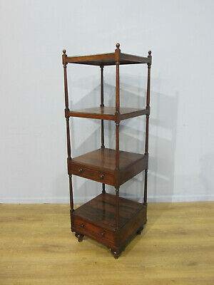 Original Antique Victorian Rosewood Regency Style Wot Not Bookcase Circa 1860