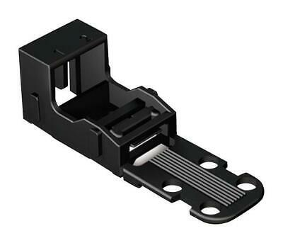 2-Way Mounting Carrier, 4mm, Black - WAGO 221-502/000-004