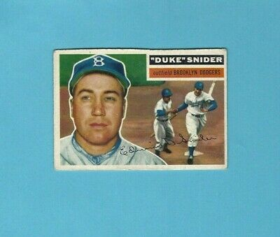 1956 Topps #150 Duke Snider Brooklyn Dodgers Baseball Card