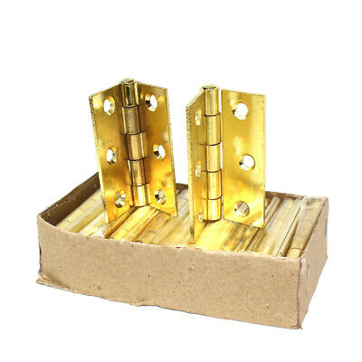"1 Pair Brass Plated Butt Hinge 63mm 2.5/"" Pack of 2 Steel Door Hinges 1838"