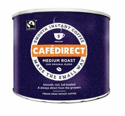 Cafe Direct Instant Coffee Medium Smooth Roast Freeze Dried 500g - Sealed