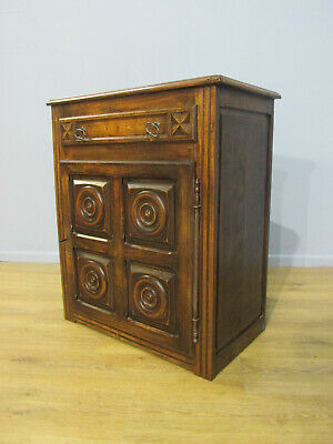 19Th Century Antique French Provincial Friut Wood Single Door Cupboard