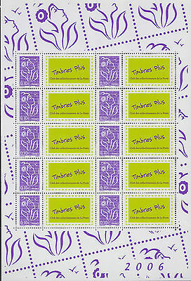 "2006 Bloc Feuillet FRANCE N°3916A**  FEUILLE PERSONNALISEE Logo ""Timbres PLUS"""