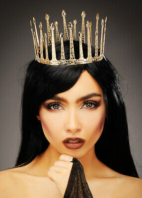 Gold Metal Gothic Wicked Queen Crown Headpiece