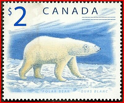Canada Stamp Mint Se-tenant Pair  #1692a(1691-2) - Wildlife Definitives ($2)