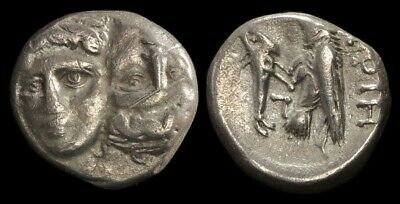 ANCIENT GREEK Thrace (Moesia) Istros late 5th-4th centuries BC AR Drachm S-1669