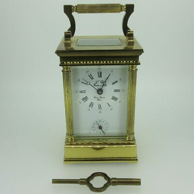 L'Epee French Brass Alarm Carriage Clock As-Is