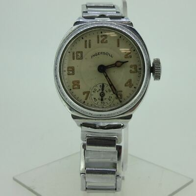 Vintage Ingersoll Watch Co. U.S.A. Silver Tone Watch Parts As-Is