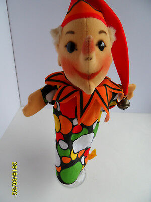 Steiff clown hand puppet button flag stuffed animal made in Germany 2629