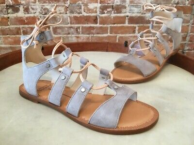 Dolce Vita Grey Suede Jasmyn Lace up Gladiator Sandal 8.5 NEW