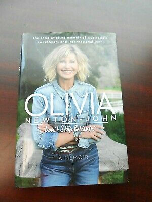 DON'T STOP BELIEVIN' Olivia Newton John 1st edition Signed with COA Premier