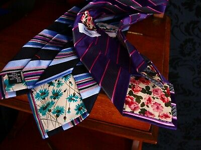 Super2 x New Paul Smith Italian Silk Tie Ties RRP for two £200