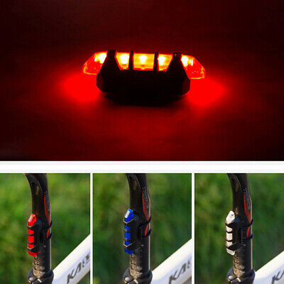 "5 Led Usb Rechargeable Bike Tail Light Bicycle Safety Cycling Warning/"" RearFDBB"