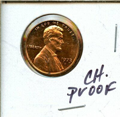 1973-S United States Lincoln Proof Memorial Cent 1c Coin SE474