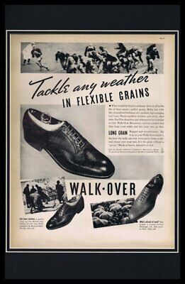 1937 Walk Over Shoes Framed 11x17 ORIGINAL Vintage Advertising Poster