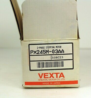 New In Open Box Oriental Motor Co. Vexta 2 Phase Stepping Motor PX245M-03AA