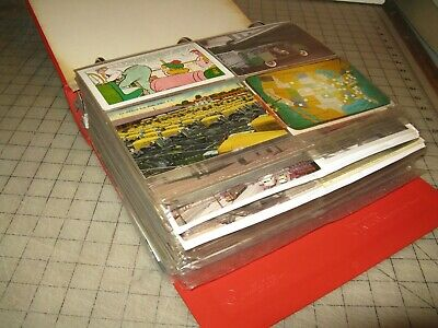 Huge Binder filled with POST CARDS - Travel & Mostly BUS Images - 100's of them!