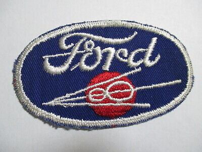 """Ford Motors Emblem Patch~Car Truck Auto~3 1//2/"""" x 1 1//2/""""~Embroidered~Iron Sew On"""