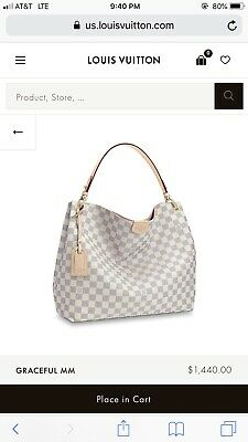 2f6661a2cfd8d LOUIS VUITTON GRACEFUL MM in Damier Azur N42232 in Good Pre-owned ...